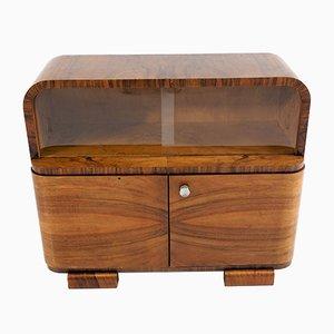 Art Deco Walnut Cabinet, 1940s