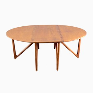 Table de Salle à Manger Pliante Mid-Century en Teck par Kurt Østervig pour Jason Møbler, Danemark
