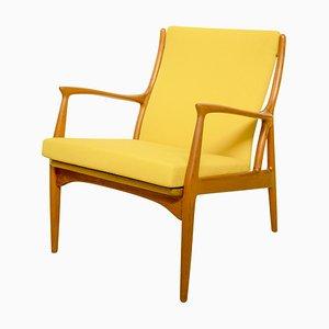 Mid-Century Danish Teak Lounge Chair by Erik Andersen und Palle Pedersen for Horsnaes Mobler, 1960s