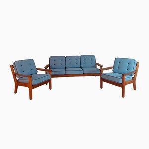 Dänisches Sofa & Sessel Set aus Teak von Kristensen Juul für Glostrup, 1960er
