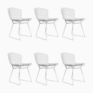 Vintage Metal Dining Chairs by Harry Bertoia for Knoll Inc. / Knoll International, 1970s, Set of 6