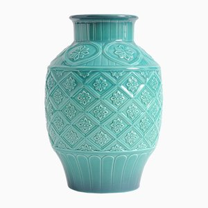 Turquoise Ceramic Model 2392 Vase from Beswick, 1950s