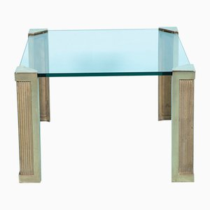 Brass and Glass Model T14 Coffee Table by Peter Ghyczy for Ghyczy, 1970s