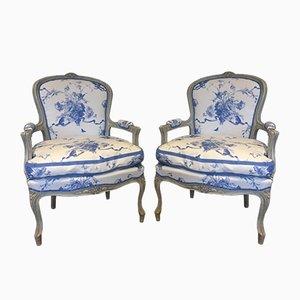 Antike gustavianische Sessel, 2er Set