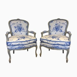 Antique Gustavian Lounge Chairs, Set of 2