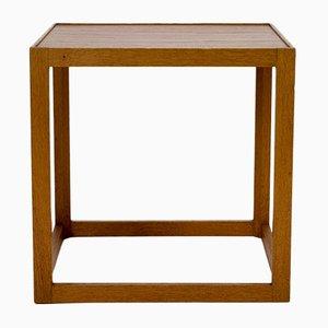 Table d'Appoint Cube par Kurt Østervig pour Børge Bak, Danemark, années 50