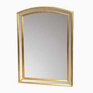 Espejo belga dorado facetado de Deknudt, años 70
