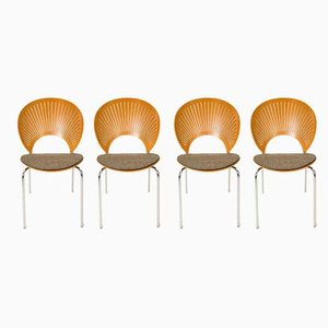 Model Trinidad Dining Chairs by Nanna Ditzel for Fredericia, 1960s, Set of 4