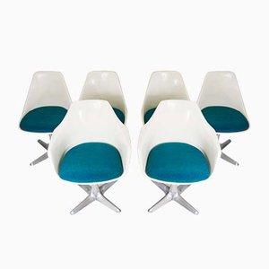 Esszimmerstühle aus Glasfaser von Maurice Burke für Arkana, 1960er, 6er Set
