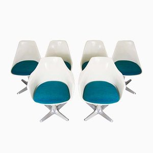 Fiberglass Dining Chairs by Maurice Burke for Arkana, 1960s, Set of 6