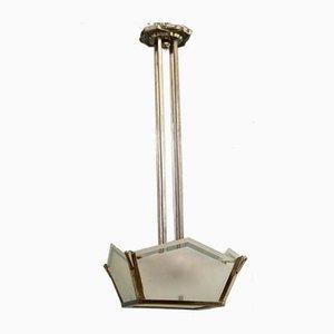 Lámpara colgante francesa Art Déco, años 30