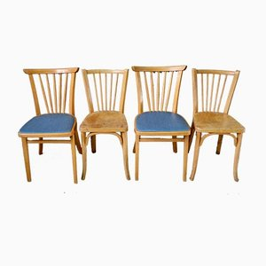 Mid-Century Bistro Chairs, 1950s, Set of 4