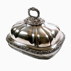 Vassoio antico con coperchio di James Dixon, inizio XIX secolo