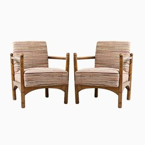 Vintage Swedish Grace Armchairs, Set of 2