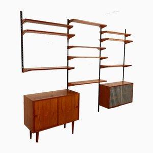Libreria modulare in teak di Kai Kristiansen per Feldballes Møbelfabrik, Danimarca, anni '60