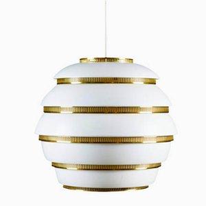 Lampada da soffitto A331 a forma di alveare di Alvar Aalto per Valaisinpaja, anni '60
