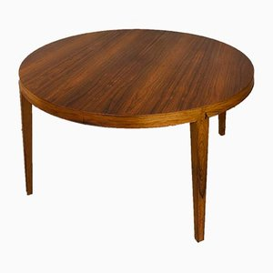Rosewood Extendable Dining Table by Severin Hansen for Haslev Møbelsnedkeri, 1960s