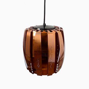 Mid-Century Danish Copper Model P30-B1 Pendant Lamp by Werner Schou for Coronell Elektro, 1970s