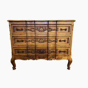 Louis XV Style French Golden Oak Dresser, 1950s