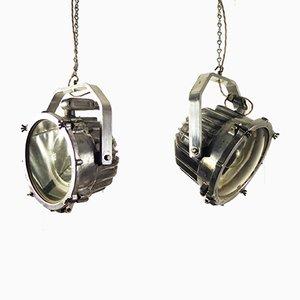Industrielle Deckenlampe aus gegossenem Aluminium von Phoenix Products CO, 1970er
