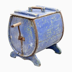 19th Century Swedish Blue Butter Churn