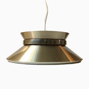 Vintage Swedish Brass Pendant Lamp by Carl Thore / Sigurd Lindkvist for Granhaga Metallindustri, 1960s