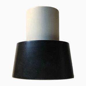 Lámpara de techo modelo Nyboderpendel en blanco y negro de Svend Aage Petersen para Louis Poulsen, años 60