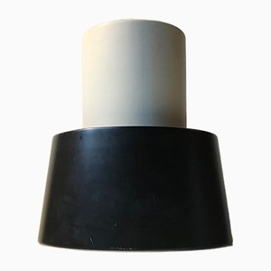Plafonnier Modèle Nyboderpendel Noir et Blanc par Svend Aage Petersen pour Louis Poulsen, années 60