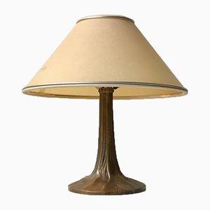 Lampe de Bureau Vintage en Bronze, France, années 50