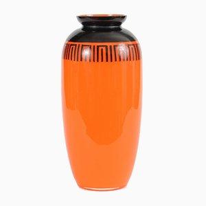 Antike Tango Glasvase in Orange von Loetz