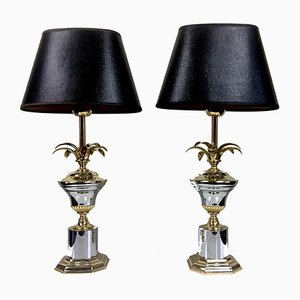 Regency Pineapple Table Lamps, 1970s, Set of 2