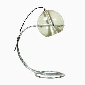 Lámpara de mesa de vidrio ahumado de Franck Ligtelijn para Raak, años 60