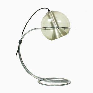 Smoked Glass Table Lamp by Franck Ligtelijn for Raak, 1960s
