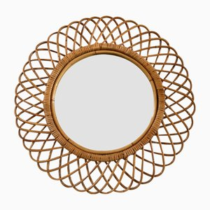 Wicker Mirror, 1950s