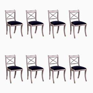 Chaises de Salle à Manger d'Époque, Set de 8