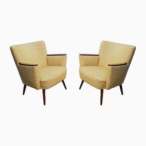Club chair Mid-Century gialle, anni '60, set di 2