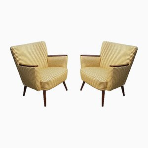 Mid-Century Yellow Club Chairs, 1960s, Set of 2