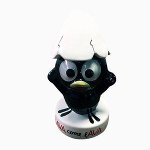 Figurine Publicitaire Calimero Vintage en Céramique de Nova Ceramiche, Italie, années 90