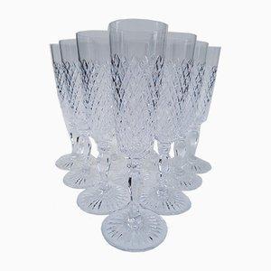 Champagnergläser aus Kristallglas von Saint Louis, 1960er, 10er Set