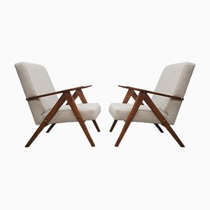 Mid-Century Beige Model B 310 Lounge Chairs, 1960s, Set of 2
