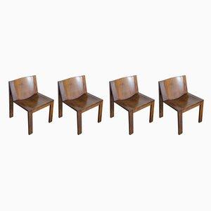 Modell SE15 Esszimmerstühle von Pierre Mazairac & Charles Boonzaaijer für Pastoe, 1970er, 4er Set