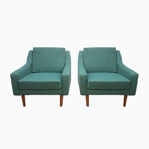 Dänische Mid-Century Sessel mit Tweed-Bezug, 1960er, 2er Set
