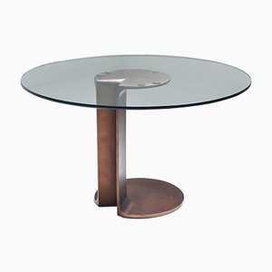 Bronze Model TL59 Dining Table by Tobia & Afra Scarpa, 1970s
