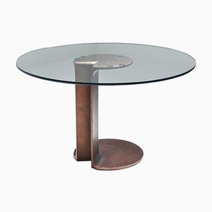 Table de Salle à Manger Modèle TL59 en Bronze par Tobia & Afra Scarpa, années 70