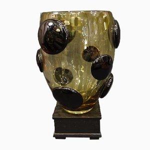 Vaso vintage in vetro di Murano di Gino Vistosi per Vistosi, anni '70