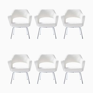 Bouclé Wool Model P16 Armchairs by Gastone Rinaldi, 1950s, Set of 6