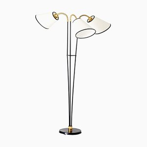 Mid-Century Brass 3-Arm Floor Lamp