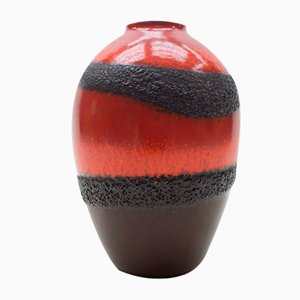 German Ceramic Fat Lava Vase from Bay Keramik, 1950s