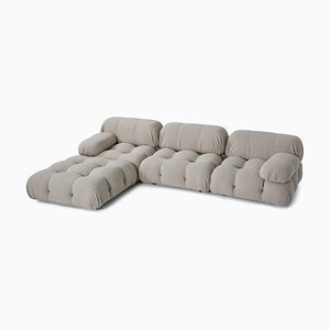 Gray Bouclé Model Camaleonda Modular Sofa by Mario Bellini, 1970s