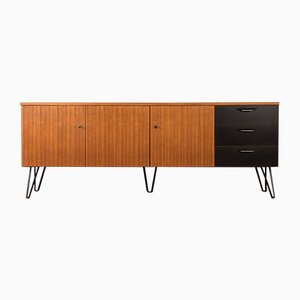 Walnut Veneer and Black Resopal Sideboard, 1960s